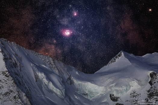 Trifid Nebula and Lagoon Nebula