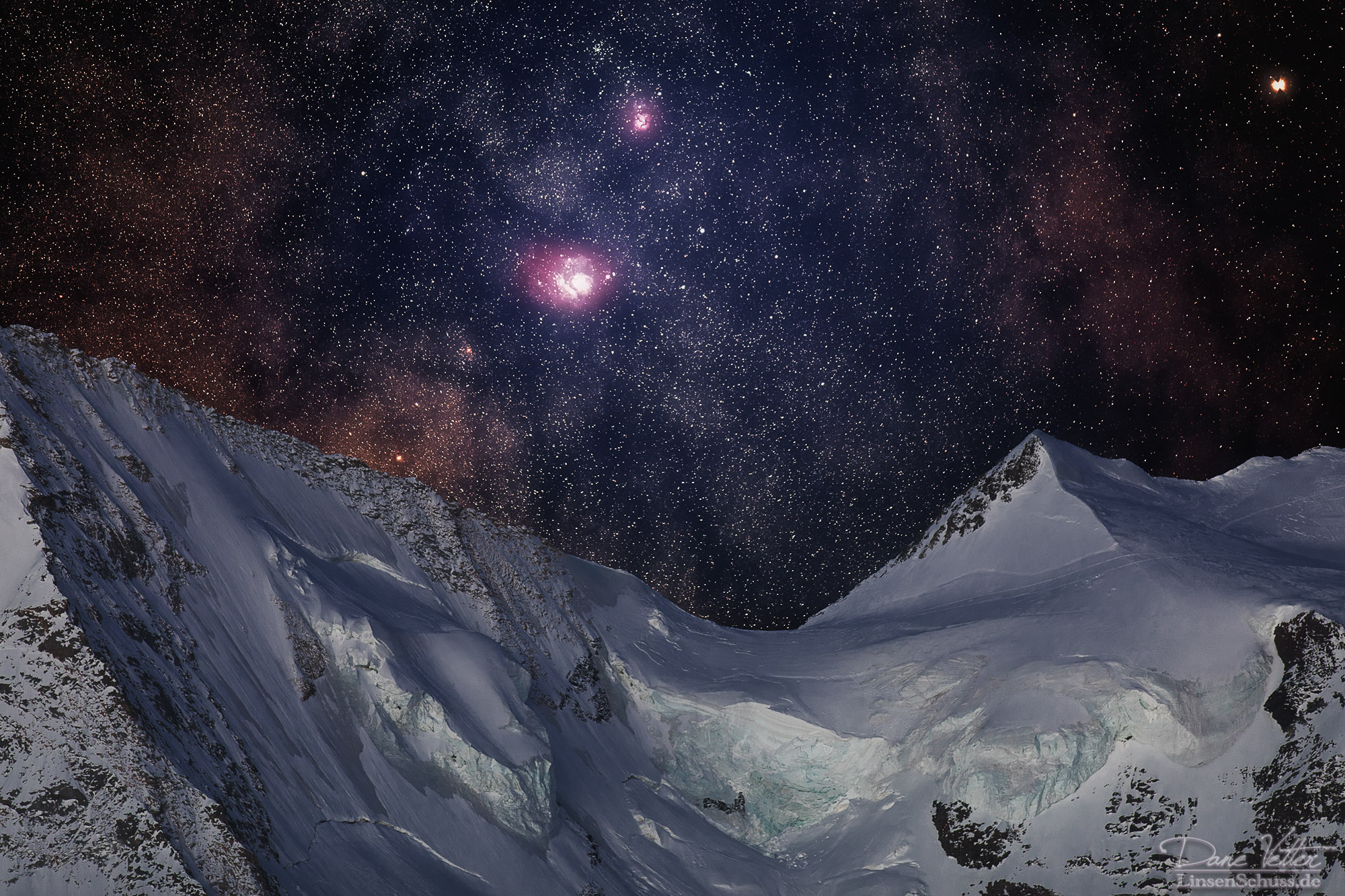 trifid and lagoon nebula - photo #1