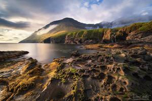 Golden light on the shore by LinsenSchuss
