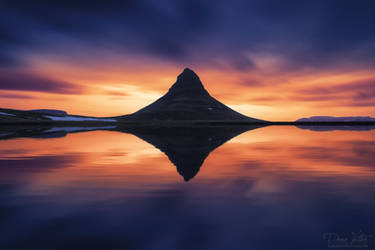 The reflection of the Kirkjufell
