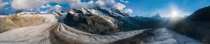 From Monte Rosa to the Matterhorn by LinsenSchuss