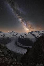 The shimmering band of the Milky Way