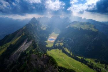 Insight into the Alpstein massif by LinsenSchuss
