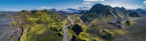 From the green mountains to the white glacier