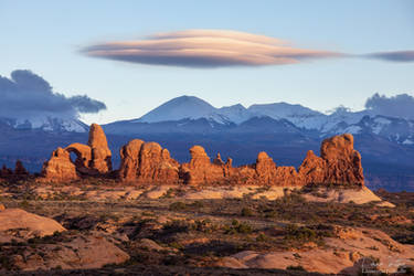 The red rocks of Arches National Park