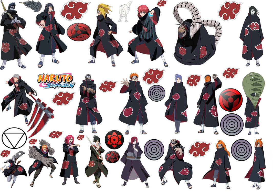 All akatsuki characters by puja39