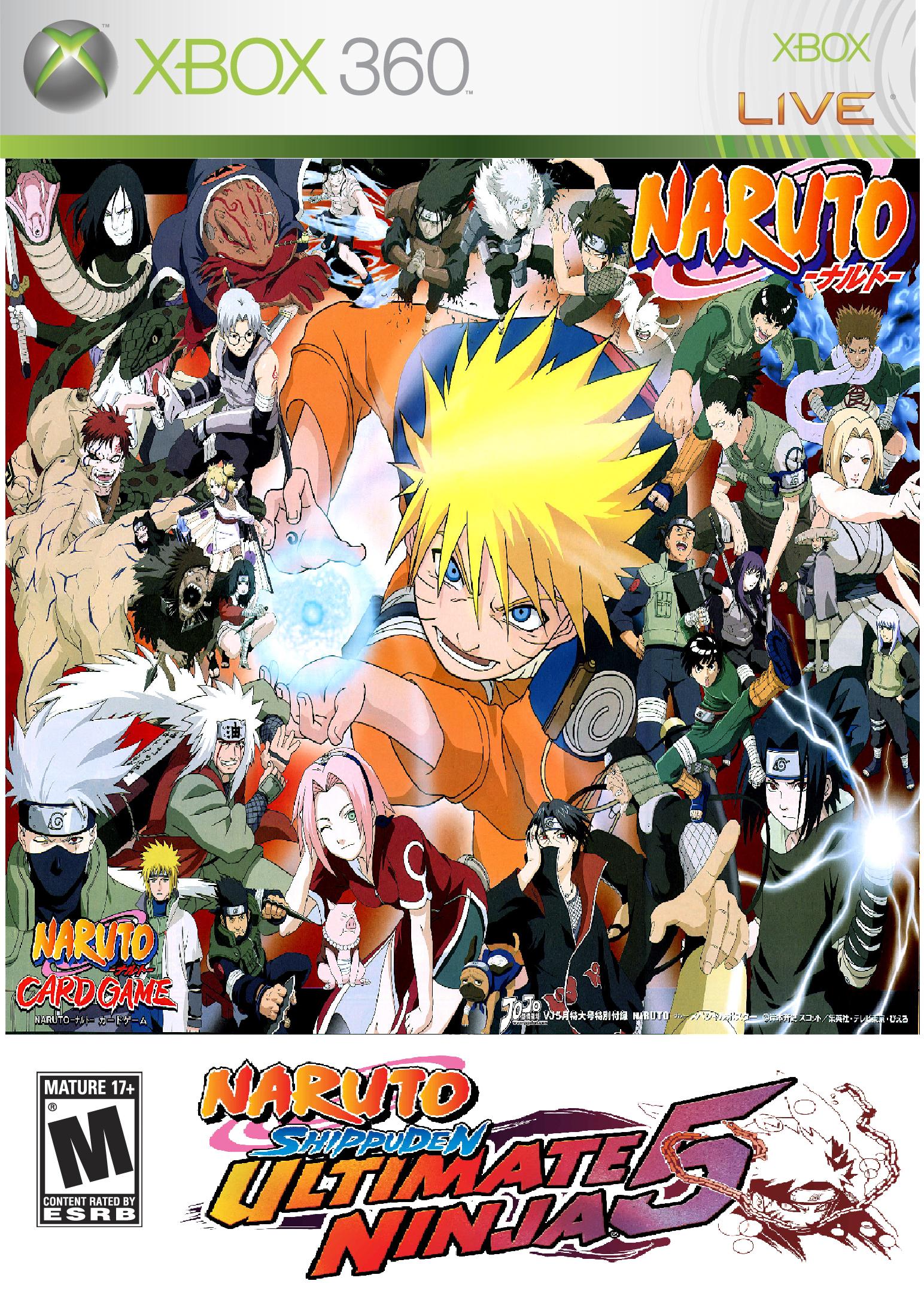 Naruto Shippuuden Ultimate Ninja 5 Xbox 360 Cover by puja39