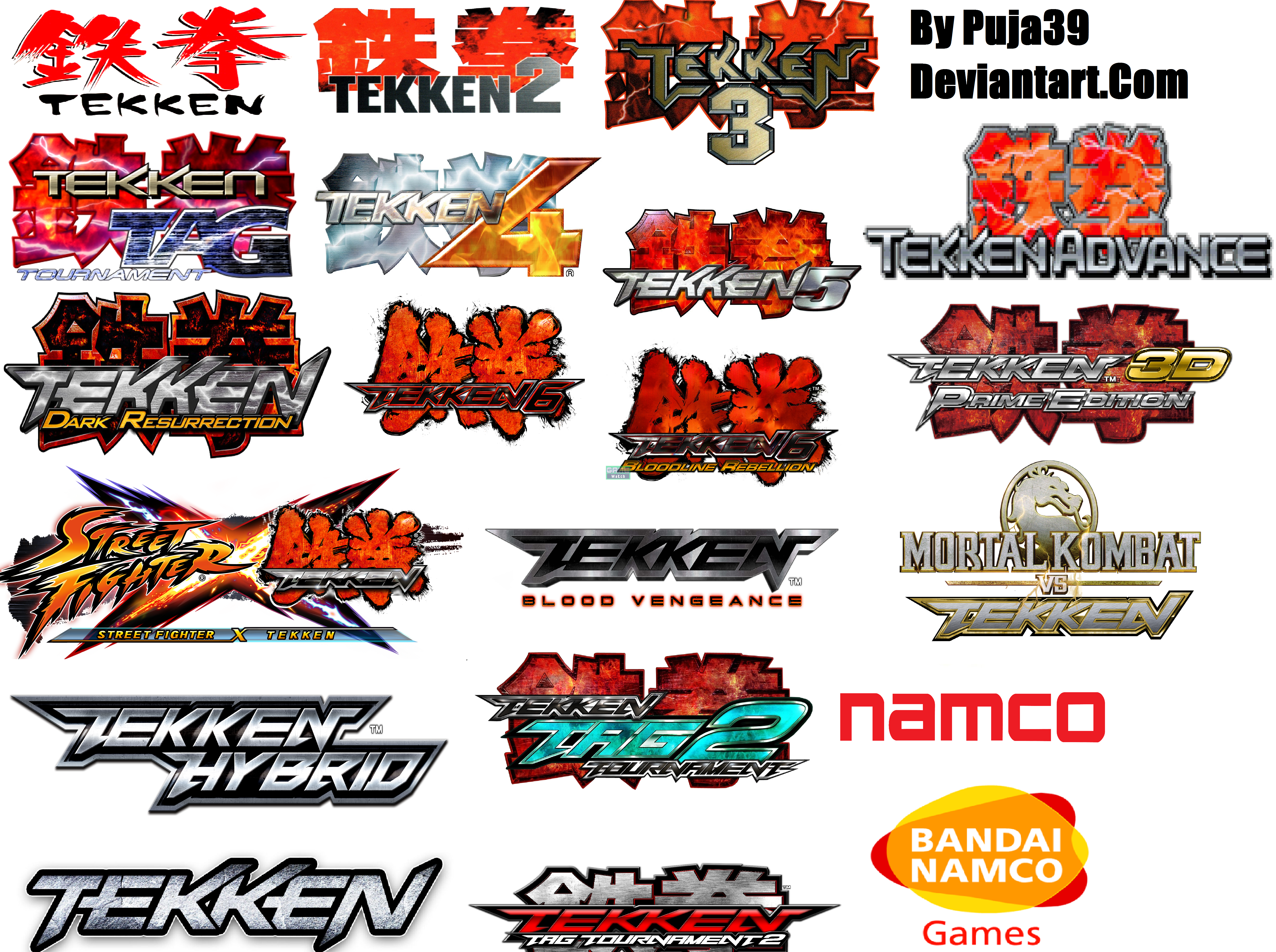 All Tekken Series And Logos by puja39 on DeviantArt