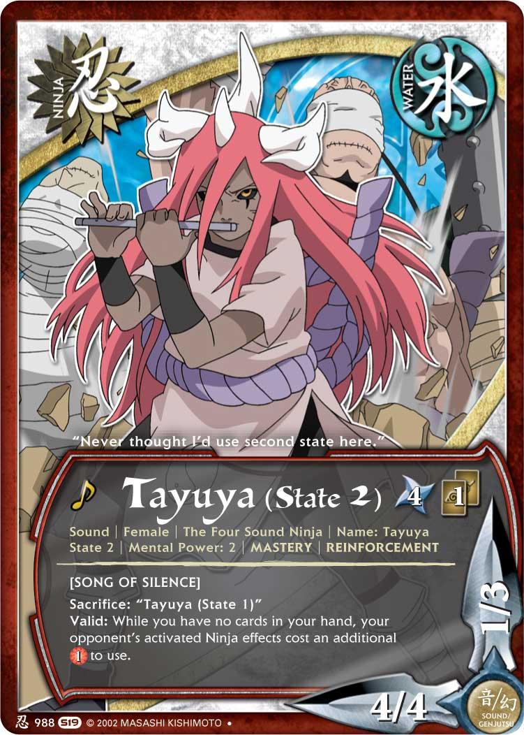 tayuya tg card state 2 by puja39 on deviantart