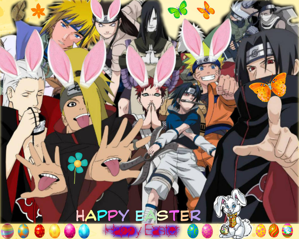 Happy Easter All Naruto Fans by puja39
