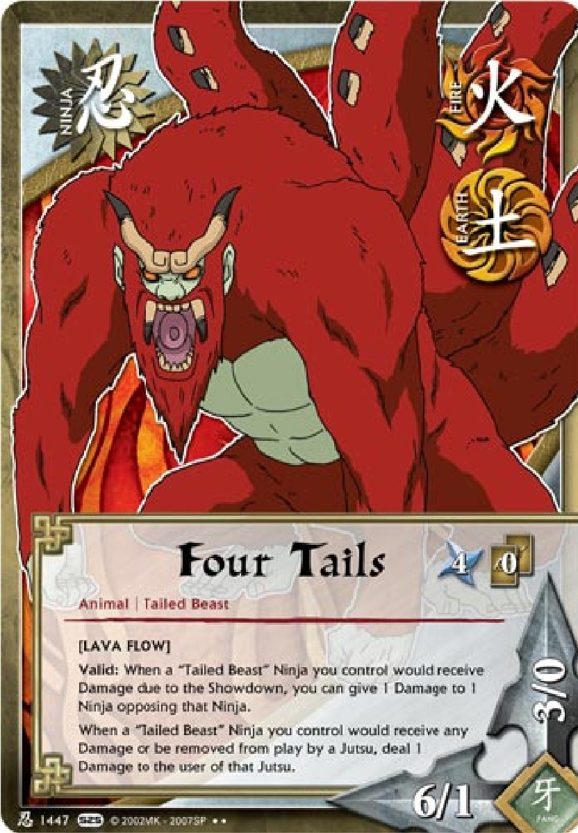 The Four-Tailed Beast Son Goku TG Card by puja39 on DeviantArt