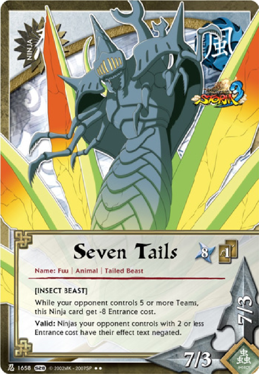 Naruto Fuu Card The Seven-Tailed Beast...