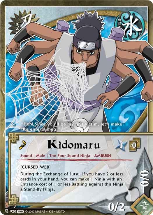 kidomaru tg card by puja39 on deviantart