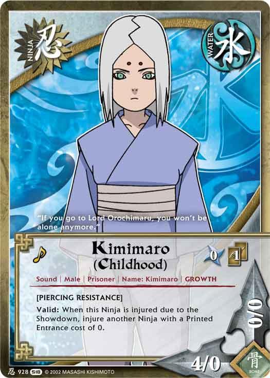 kimimaro childhood tg card by puja39 on deviantart
