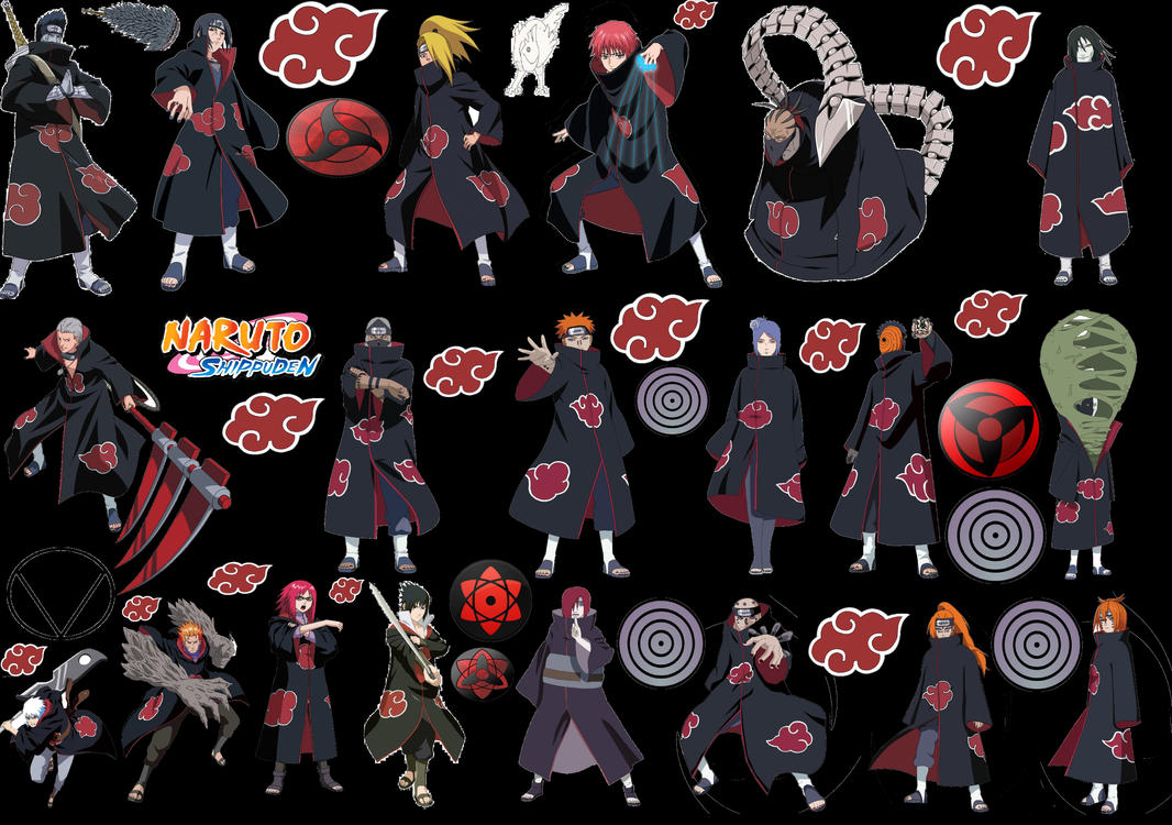 All Akatsuki Characters V2 by puja39