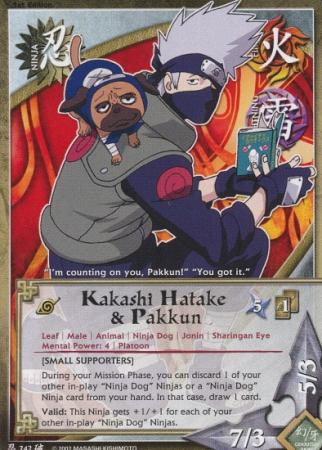 Kakashi Hatake And Pakkun TG Card by puja39