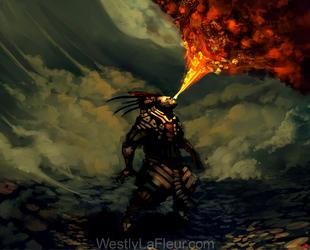 Fire Spitter by WestlyLaFleur