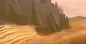 Desert Temple by WestlyLaFleur