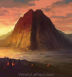 The Arid Mountain by WestlyLaFleur