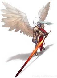 Ynaeric the Aasimar Justicar by WestlyLaFleur