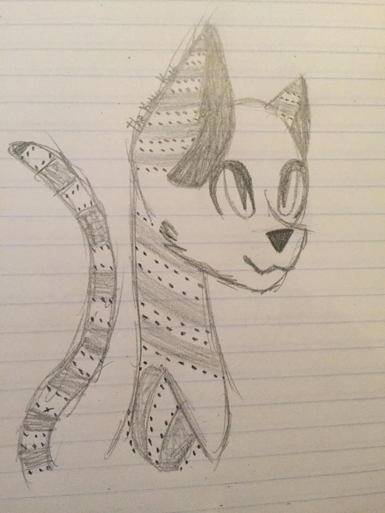 Cat Oc Sketch by TheKittyKatUnion