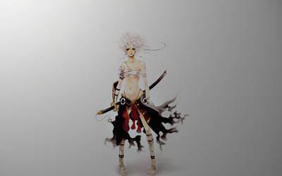 Samurai Girl by Hellfishj