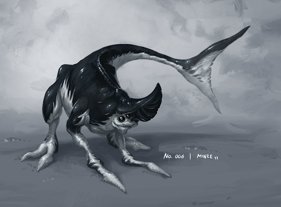 Monster No. 006 by Onehundred-Monsters