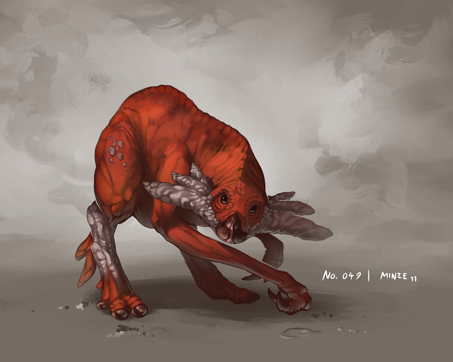 Monster No. 049 by Onehundred-Monsters