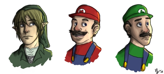how to draw nintendo characters