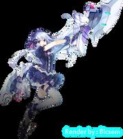 Render Tiara (Fairy Fencer F) by Bicsem