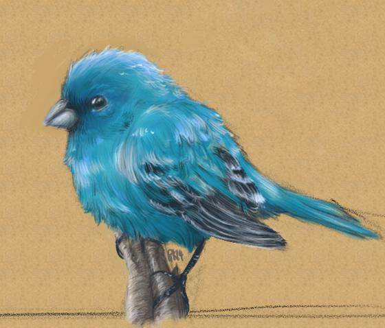 Blue Birdy paint by Ronin-kin