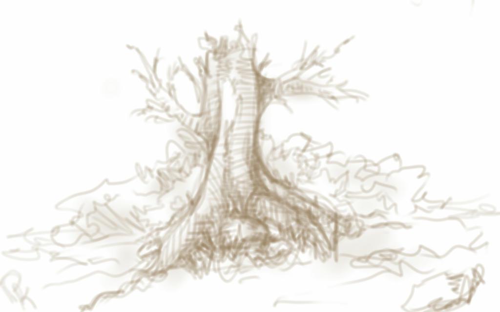 15 min tree sketch by Ronin-kin