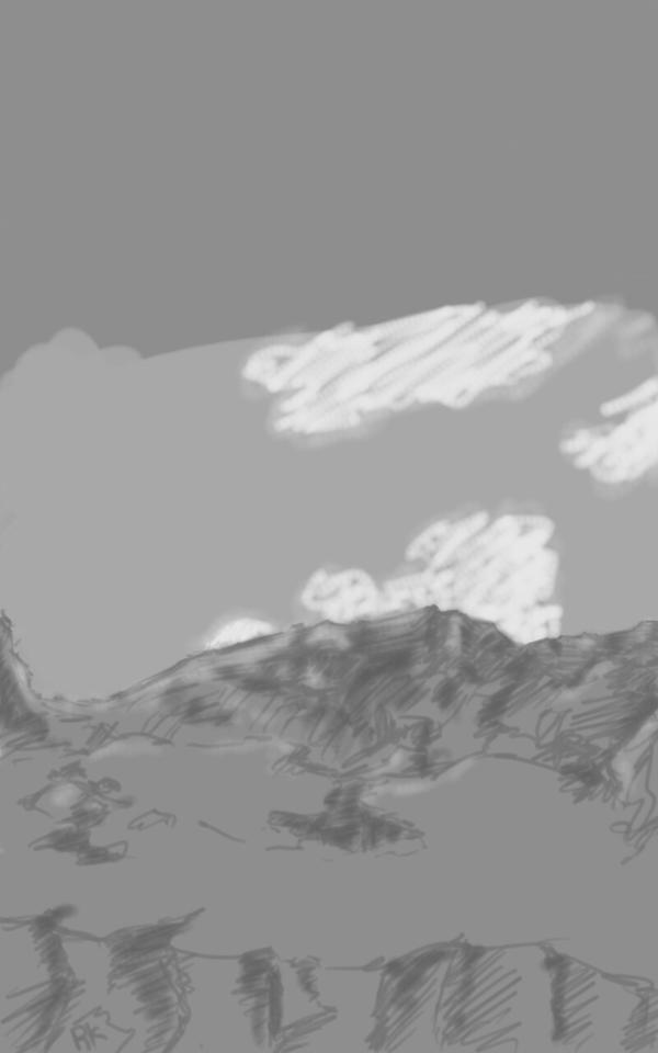 quik landscape sketch challenge by Ronin-kin