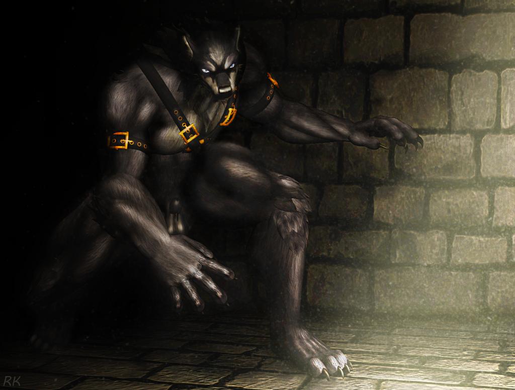 A giant werewolf draws near! by Ronin-kin
