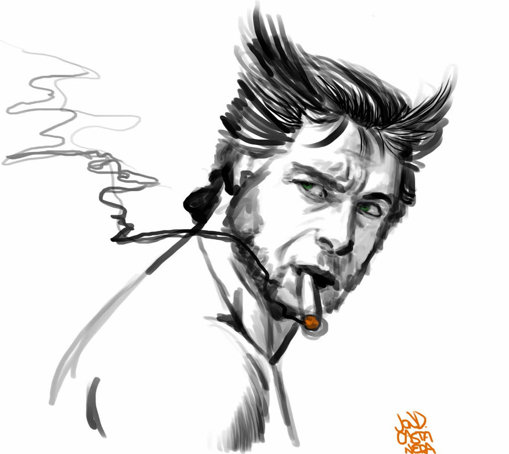 hugh jackman as wolverine study by sapoman