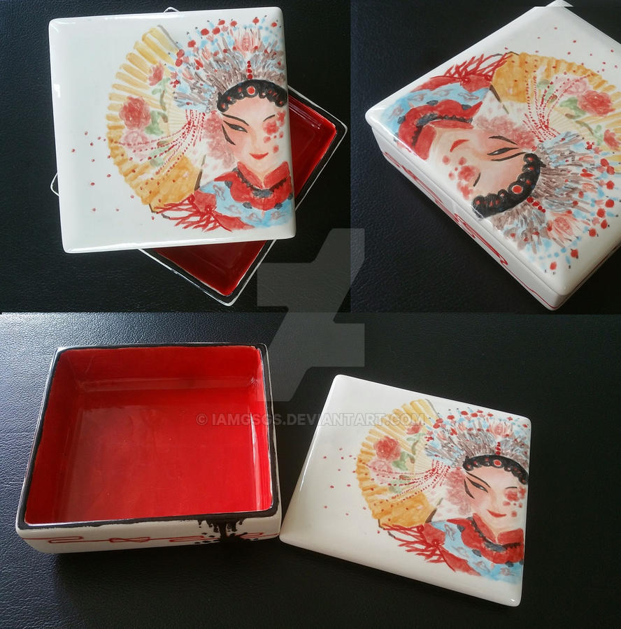 Making of a chinese opera character ceramic box 2 by IamGSGS