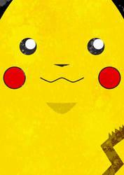 Minimalist Pikachu by Godlesswanderer