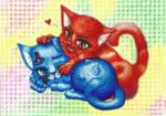 Jellal and Erza are Kitties by Avia-tika