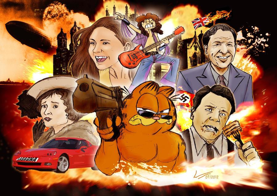 Garfield: Ultimate Badass by Kapalsky