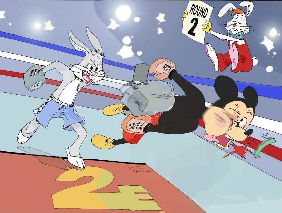 http://fc09.deviantart.net/fs17/f/2007/138/d/c/Mickey_Mouse_Vs__Bugs_Bunny_by_Kapalsky.jpg