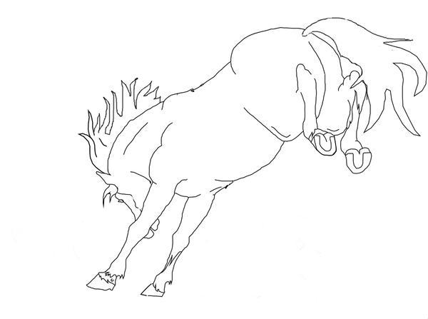 Bucking Horse Line Art 2 By Horsecrazytwins On DeviantArt