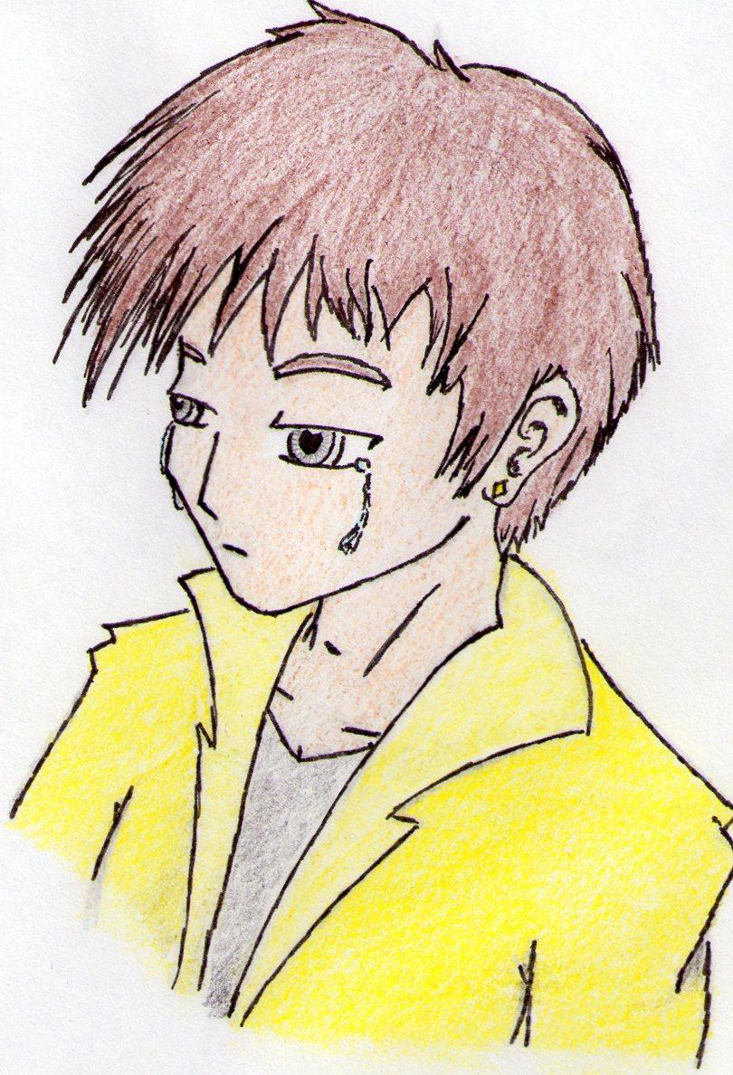 Sad anime boy by JKdrawing on DeviantArt