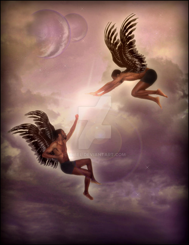 Angelic Battle by Iribel