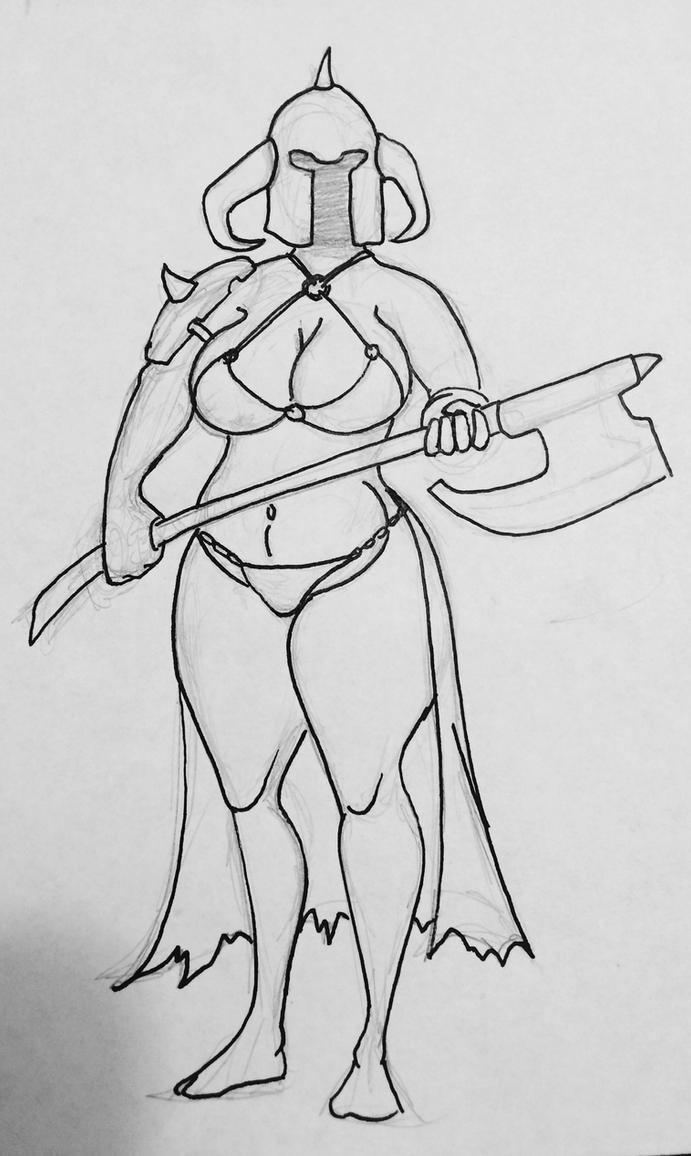Lady Death Dealer by arq341