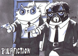 Pulp fiction Funny cats by KingZoidLord