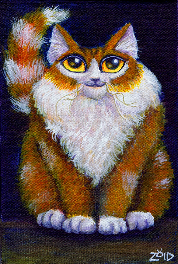 Funny Cat Fat Painting Kingzoidlord