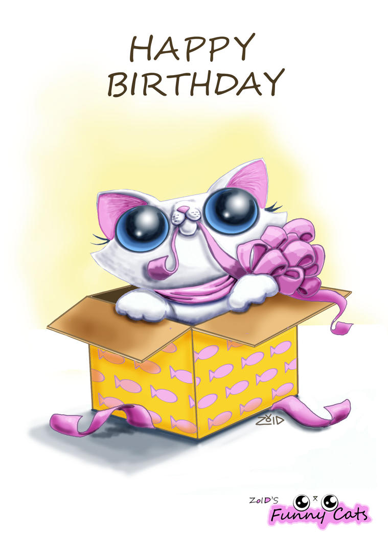 Funny cat birthday card by kingzoidlord on deviantart funny cat birthday card by kingzoidlord bookmarktalkfo Images