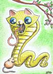 Funny cat Chinese Zodiac Year of the Snake