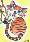 Funny cat Chinese Zodiac Year of the Tiger
