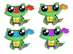 Free Funny cat adoptables!!!!! TMNT by KingZoidLord